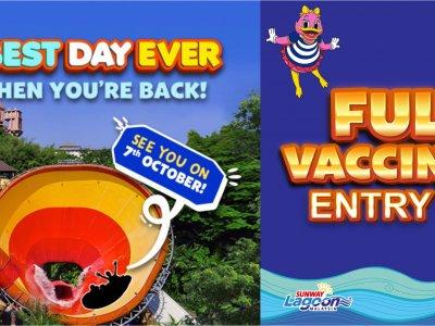 双威主题乐园终于重开!仅限完全接种疫苗者入场