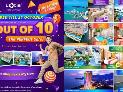 """想念滨海假期?那就别错过丽昇酒店""""10/10完美满分""""电子代金券促销活动!"""