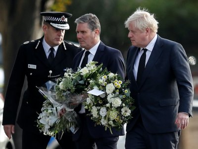Boris Johnson visits church where lawmaker was stabbed to death