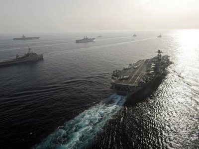 US Navy says seizes huge weapons cache in Arabian Sea