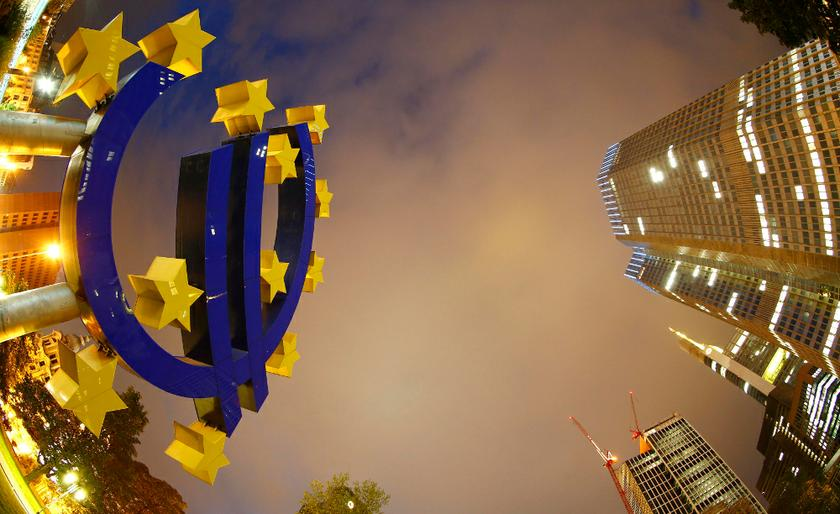The euro sign landmark is seen at the headquarters (right) of the European Central Bank (ECB) in Frankfurt September 2, 2013. — Reuters pic