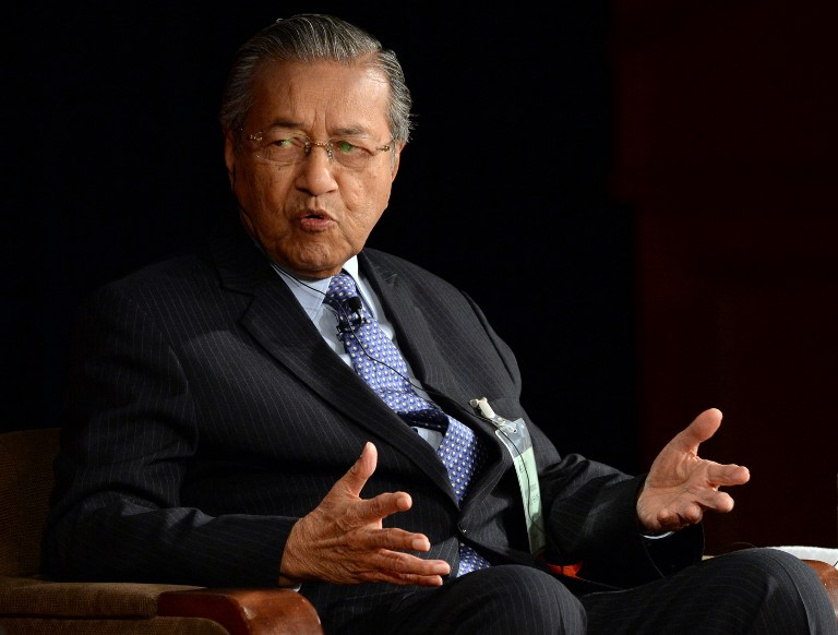 Former Malaysian Prime Minister Tun Mahathir Mohamad yesterday described the Malays as lazy and lacking in honesty. — AFP pic