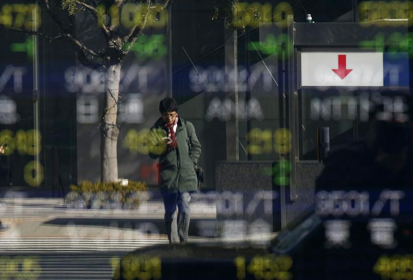 Japan's Nikkei firmed 0.7 per cent, bringing its gains for the month to 16.7 per cent for the largest rise since 1990. — Reuters pic