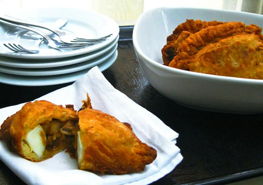 Curry puffs can be regarded as Asian pies, with credit given to the Portuguese empanada for the original idea of a stuffed pastry.