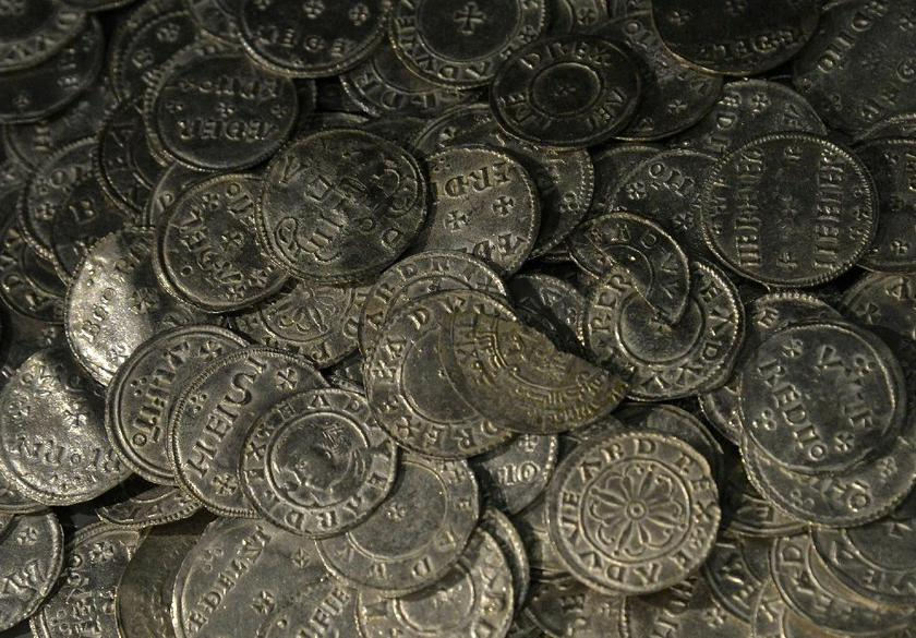 McLennan and a friend unearthed around 300 medieval coins in the same area of Scotland last year. — AFP pic