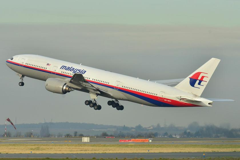 The Boeing 777-236ER used for the Malaysia Airlines flight MH370 now missing, is pictured during takeoff at Roissy-Charles de Gaulle Airport in Paris, France in this undated image. — WikiMedia Commons