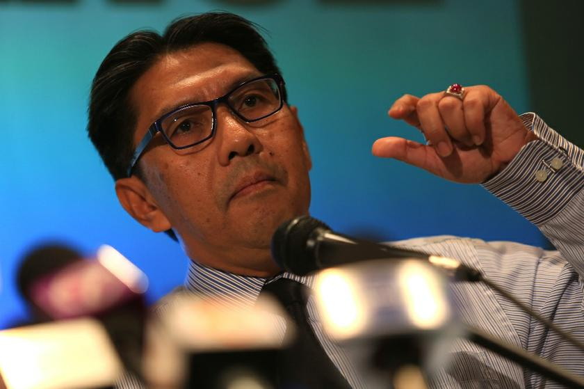 DCA director-general Datuk Seri Azharuddin Abdul Rahman said DCA could not confirm if the fragment that was found on April 2 was from the missing Flight MH370 until it is examined by the experts. — Picture by Saw Siow Feng