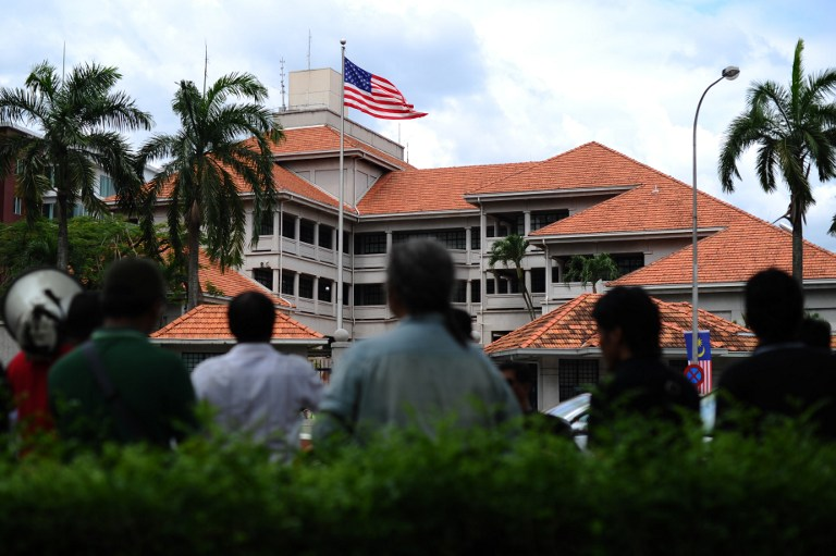The US embassy in Kuala Lumpur. Rahinah Ibrahim, a Malaysian architect, sued the US government after being wrongly put on a no-fly list and denied a US visa — AFP pic