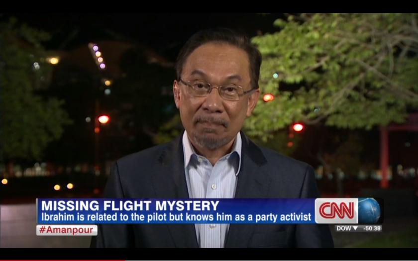 Video capture shows Datuk Seri Anwar Ibrahim speaking on CNN's Christiane Amanpour.