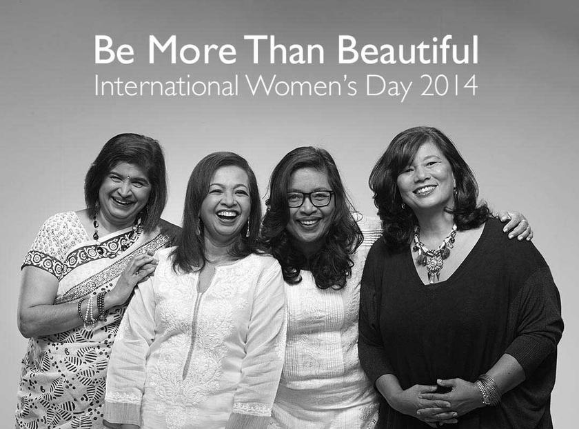 (From left) Ambiga, Marina, Josiah and Zainah appear in a promotional image for the 'Be More Than Beautiful' campaign.