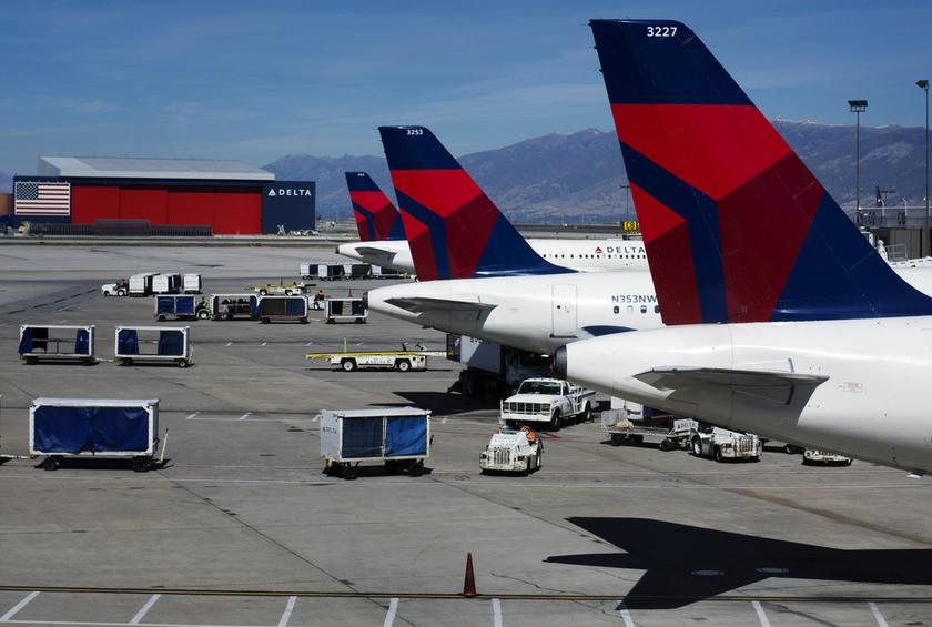 Delta planes line up at their gates while on the tarmac of Salt Lake City International Airport in Utah in this file photo taken September 28, 2013. — Reuters pic