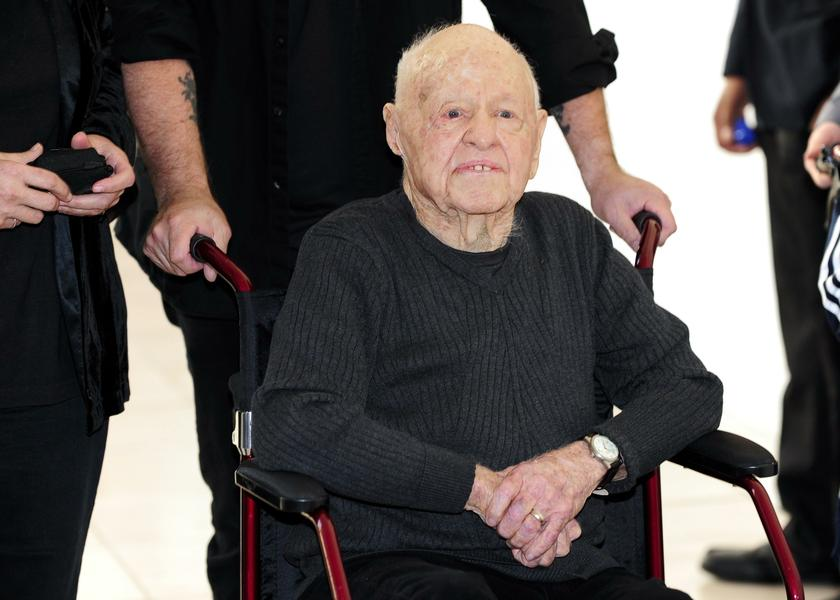 Actor Mickey Rooney arrives at the opening night of the UCLA Film and Television Archive film series 'Champion: The Stanley Kramer Centennial' and the world premiere screening of the newly restored 'Death of a Salesman' in Los Angeles, California in this picture dated August 9, 2013. He had been ill for some time. — Reuters pic
