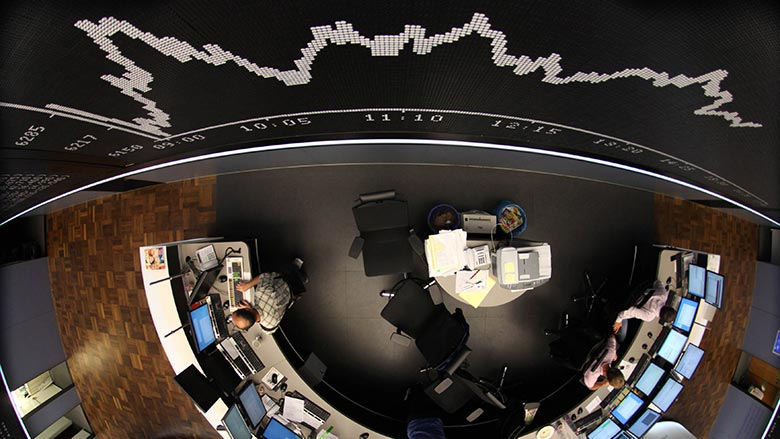 The DAX Index board is pictured at Frankfurt's stock exchange August 5, 2011. — Reuters pic