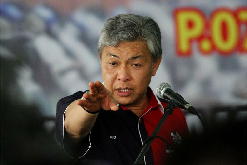 Zahid urged the Malaysian Communication Multimedia Commission to investigate and act against Sarawak Report, the whistleblower website that published the alleged leaked email correspondence between 1MDB and PetroSaudi. — file picture