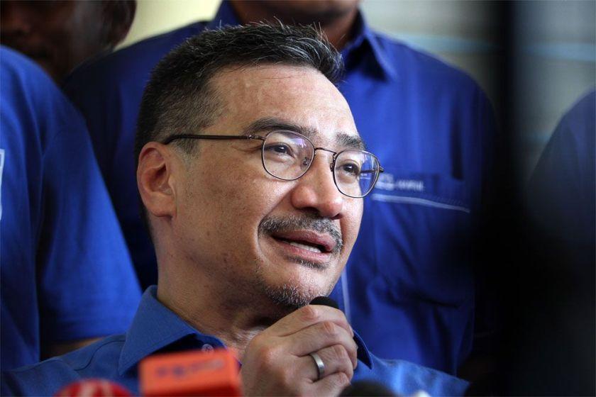 希山慕丁受委为国阵总财政,取代东姑安南。-Yusof Mat Isa摄-
