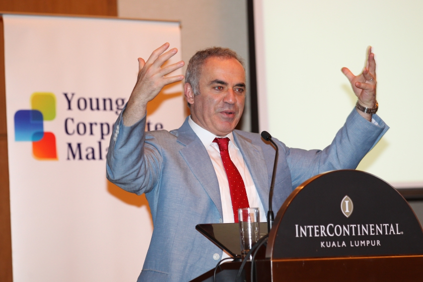 Kasparov in Malaysia — Pix by Peter Long
