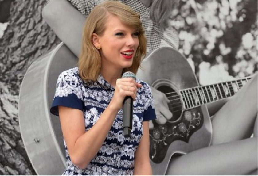 Taylor Swift is very impressed with the boys of Delta Sigma Phi Beta Mu. — AFP pic