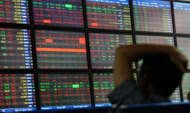 The VN Index, the best performer among Southeast Asian markets this year, is valued at 13.7 times projected 12-month profits, the cheapest among the six major regional markets. — File pic