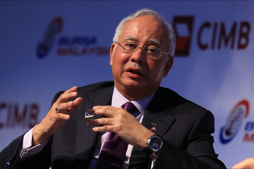Prime Minister Datuk Seri Najib Tun Razak gives a keynote address during the launch of Invest Malaysia 2014 at the Mandarin Oriental Hotel, Kuala Lumpur, in this June 9, 2014 file picture. The Prime Minister's office today said Najib had not indicated support for ISIL in his speech at Umno's Cheras branch 20th anniversary dinner earlier this week. ― Picture by Saw Siow Feng
