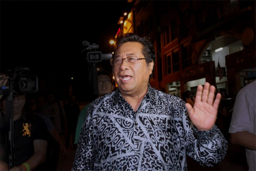 Tan Sri Khalid Ibrahim is seen in Merchant Square, Damansara in this file picture taken on June 10, 2014. — Picture by Yusof Mat Isa