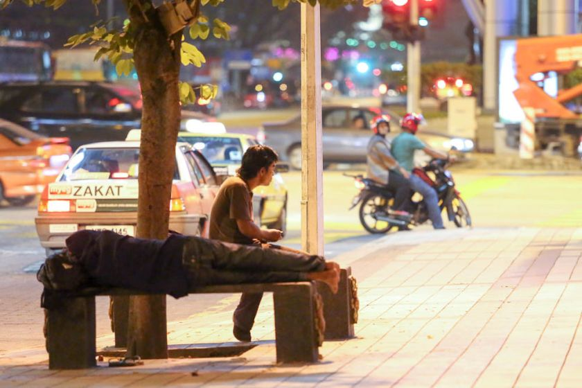The homeless issue became a hot topic after the Tengku Adnan said that soup kitchens would be barred from distributing food to the homeless within two km radius of Lot 10 in Jalan Bukit Bintang. — Picture by Choo Choy May