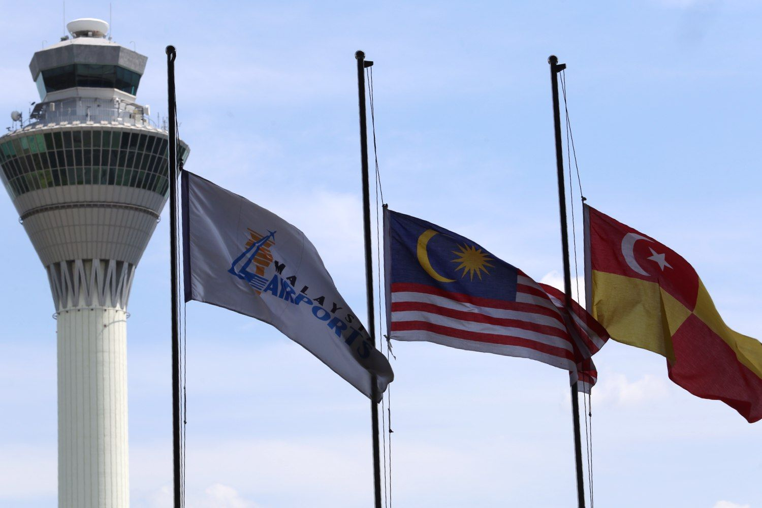 The government has decided that the national flag be flown at half-mast throughout the country beginning tonight until Monday (July 21) following the tragedy that befell the Malaysia Airlines (MAS) flight MH17 that was believed to have been shot down in