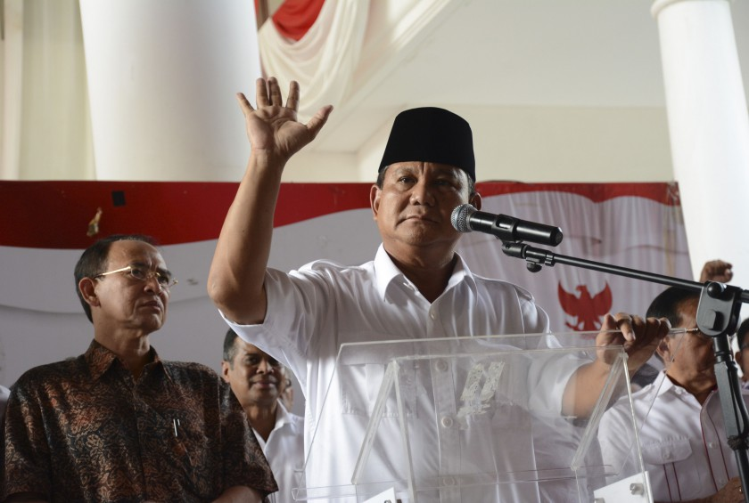 Indonesian presidential candidate Prabowo Subianto has failed in several attempts to challenge his loss to Jakarta governor Joko Widodo in the July poll. — Reuters pic