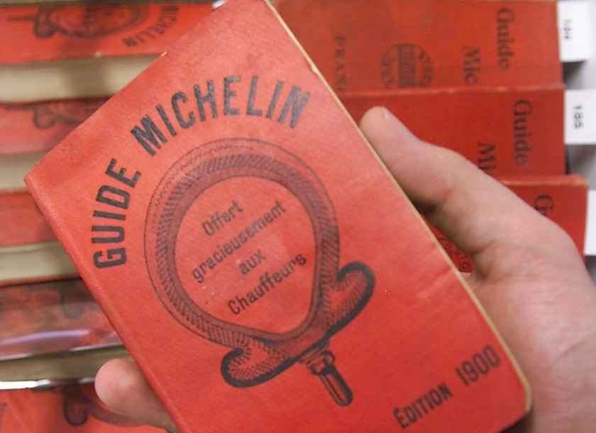 A Michelin guidebook much like this one dating back to 1900 sold at auction along with two other editions from 1901 and 1902 for €30,000. — AFP-Relaxnews