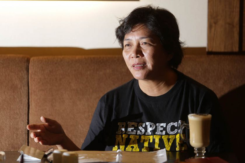 Bersih 2.0 Sabah vice-chair Jannie Lasimbang speaking at an interview in Kuala Lumpur on August 14. — Picture by Choo Choy May