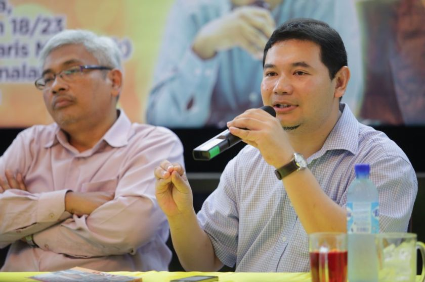 Rafizi (right) said Putrajaya has routinely refused to answer his parliamentary questions on the cost of running the jet, which has made 42 trips so far since coming into full service in April. — Picture by Choo Choy May