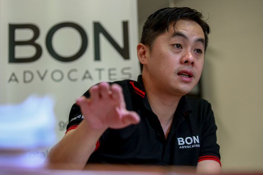 File picture shows Edmund Bon speaking to Malay Mail Online at his office in Kuala Lumpur on September 18. — Picture by Saw Siow Feng