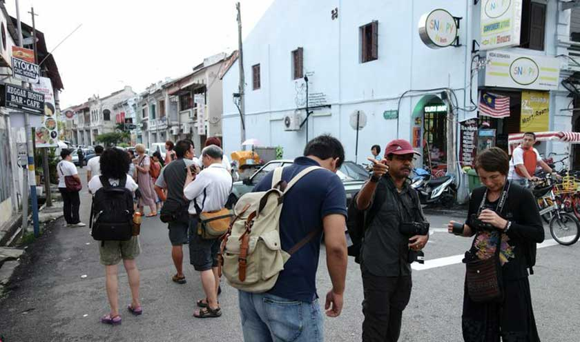 The streets of George Town are a playground for shutterbugs.