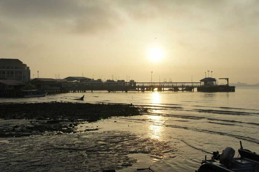 Sunrise over Penang, as seen from Chew Jetty.