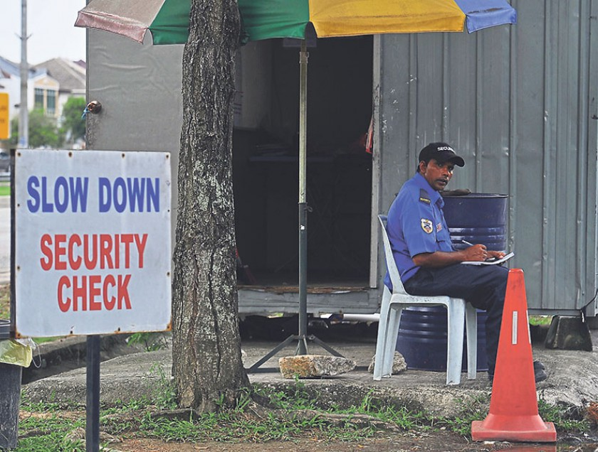 The Home Ministry emphasised that currently, only Nepali security guards may be employed by security firms licensed by the ministry. — Picture by Zuraneeza Zulkifli
