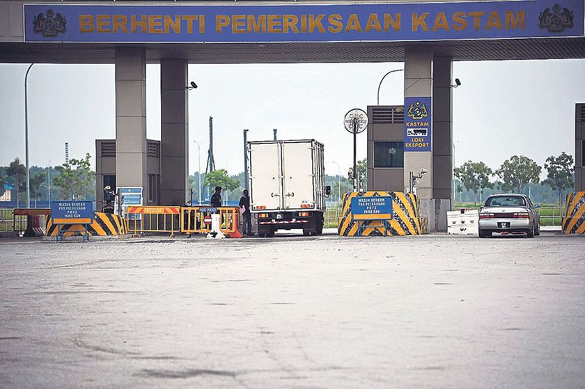 File picture showing the entrance to Port Klang Free Zone. — Picture by Firdaus Latif