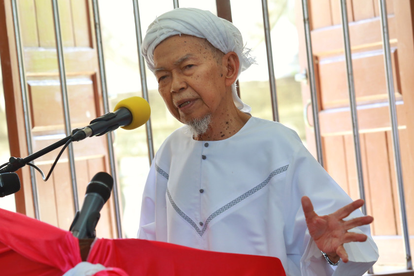 The PAS spiritual leader, who suffered from prostate cancer, was admitted in January after his health deteriorated during the recent floods. — Picture by Saw Siow Feng