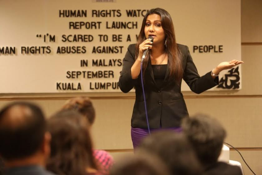 Transgender activist Nisha Ayub was awarded 'Hero of the Year' at the second Asia LGBT Milestone Awards (ALMAs) yesterday in Bangkok. ― Picture by Choo Choy May