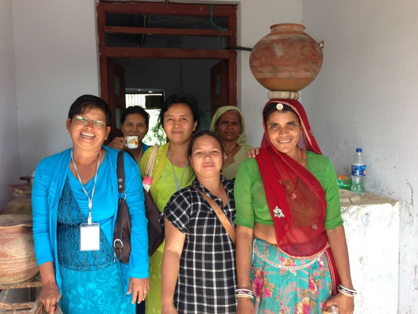 """Tarihing Masanim (centre) with other participants of the """"Grandma Solar Engineer"""" programme from Barefoot College, a non-governmental organisation based in western India, October 4, 2014. — Picture courtesy of Sabah Women Entrepreneurs and Professionals Association"""