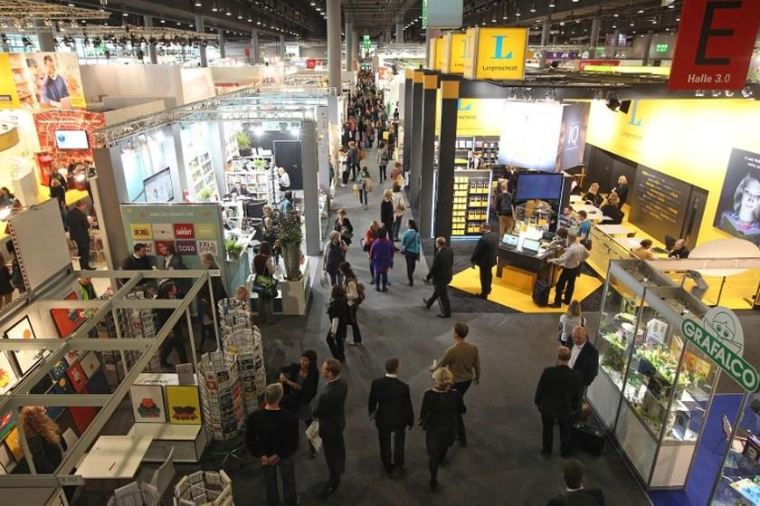 Fairgoers visit last year's Frankfurt Book Fair October 9, 2013. — AFP pic
