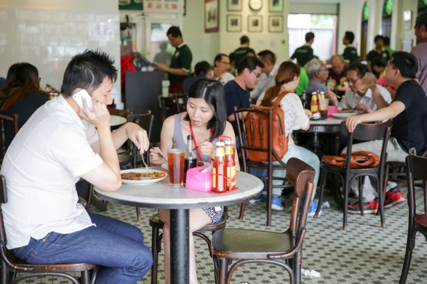 Cafe proprietor Jack Lee said who owns the 88-year-old Yut Kee restaurant in Jalan Kamunting said it would be unfair to raise food prices due to the salary increase for his staff. — Picture by Choo Choy May