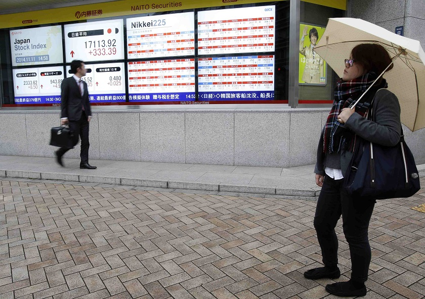 The benchmark Nikkei 225 index ended down 0.07 per cent or 21.81 points at 29,708.98 while the broader Topix index slipped 0.79 per cent or 15.57 points to close at 1,951.86. — Reuters pic