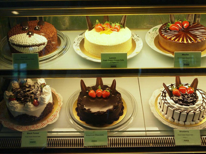 Selection of cakes at Miki Ojisan No Mise