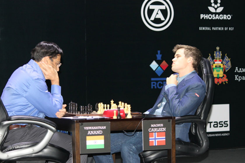 Five-time world champion Viswanathan Anand was no match for the younger Magnus Carlsen whom he first lost to last year.