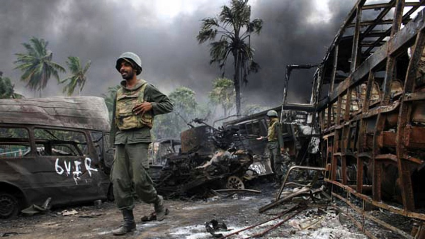 File picture shows a screen from activist Lena Hendry's documentary on Sri Lanka's civil war. — AFP pic