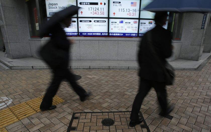The Nikkei 225 index rose 0.34 per cent, or 97.76 points, to 28,958.56, but the broader Topix index edged down 0.02 per cent, or 0.41 points, to 1,956.73. ― Reuters pic