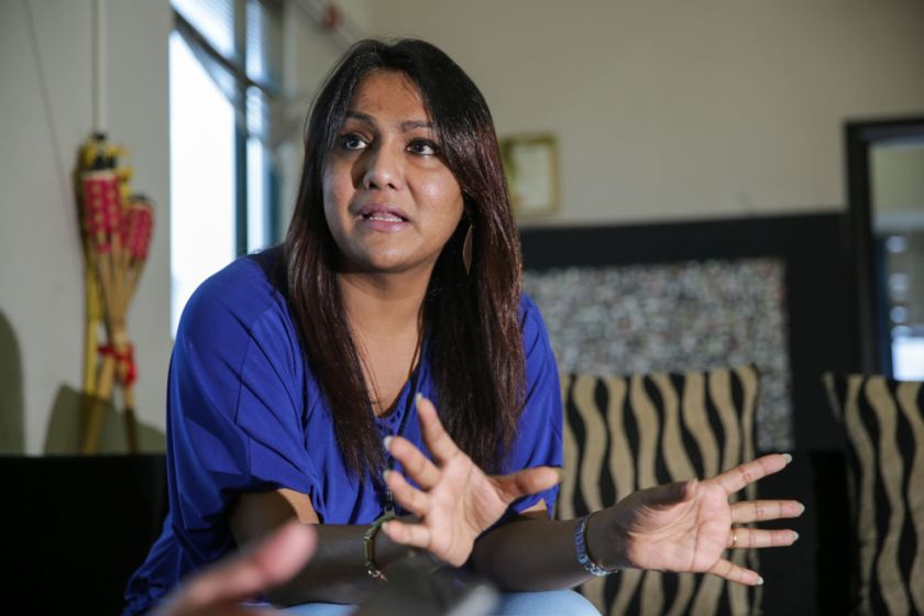 Transgender Nisha Ayub speaks during the interview with 'Justice for Sisters'. Yesterday, the Federal Court granted leave to the Negri Sembilan Government and four others to appeal against a Court of Appeal landmark decision declaring invalid the state Shariah enactment that criminalises cross-dressing by Muslim men. ― Picture by Choo Choy May