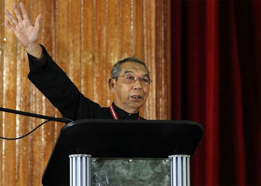 Tan Sri Abdul Rashid Abdul Rahman speaks at Perkasa AGM at the Pusat Islam Malaysia in Kuala Lumpur, December 14, 2014. — Picture by Yusof Mat Isa