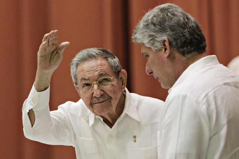Cuba changes leadership as Raul Castro (left) prepares to step down, seeks 'respectful' talks with US. — file pic