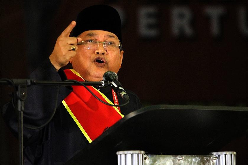 Perkasa president Datuk Ibrahim Ali speaking at the Perkasa annual general meeting at the Pusat Islam Malaysia in Kuala Lumpur, December 14, 2014. —Picture by Yusof Mat Isa