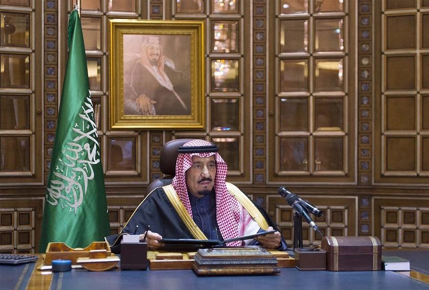Saudi King Salman gives a speech following the death of King Abdullah in Riyadh January 23, 2015. — Reuters pic
